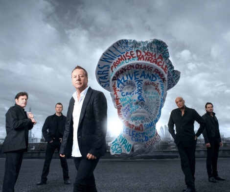 Simple Minds - Charlie Burchill, Mel Gaynor,  Jim Kerr, Andy Gillespie, Ged Grimes