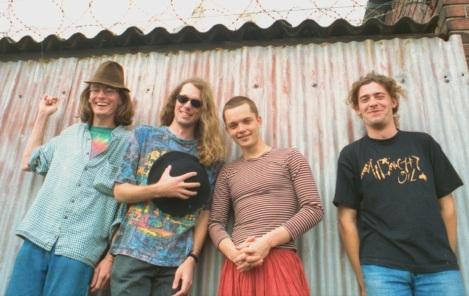 Urban Creep in 1995: Chris Letcher, Ross Campbell, Brendan Jury, Didier Noblia. Photo by Alex Bozas.